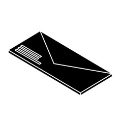Envelope mail isolated icon vector