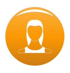 Female avatar icon orange vector