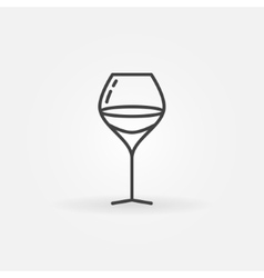 Glass of wine linear icon vector image