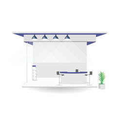 Grand exhibition stand display mock up isolated vector