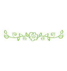 green hand drawn calligraphic separator vector image