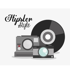 Hipster and fashion style design vector image