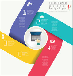 infographic modern design template 8 vector image