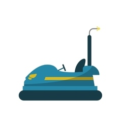 Isolated bumper car design vector