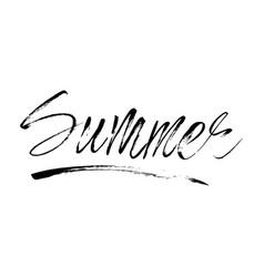 lettering summer card handdrawn positive vector image