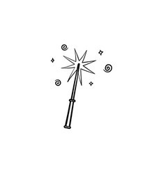 magic wand hand drawn sketch icon vector image