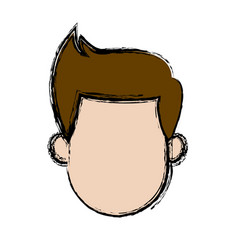 man avatar head male character vector image