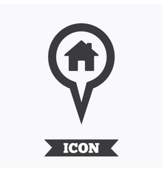 Map pointer house sign icon Marker symbol vector image