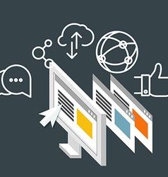 Modern technology business Social media concept vector image