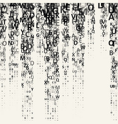 Pattern composed from letters vector