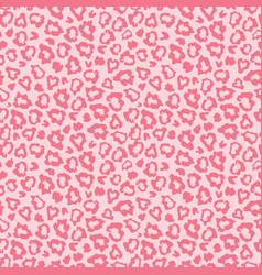 pink leopard skin fur print pattern vector image