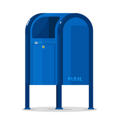Postal mailbox container isolated on white vector