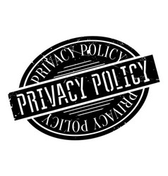privacy policy rubber stamp vector image