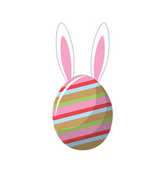 Rabbit easter insite nice decorated egg vector