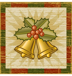 Retro Christmas bells vector image