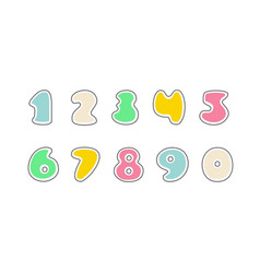 set of stickers numbers vector image