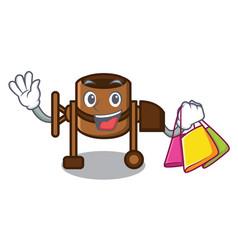 Shopping concrete mixer character cartoon vector