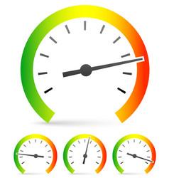 Speedometer or general gauge dial template for vector