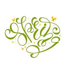 spring with ornamental decor on white vector image