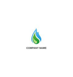 Water drop ecology organic logo vector