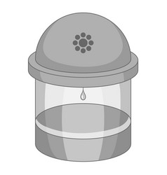 water filter icon monochrome vector image