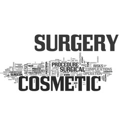 What you ought to know about cosmetic surgery vector