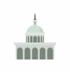 White House in Washington DC icon cartoon style vector