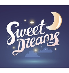 Wish good night on dark blue sky backgrou vector