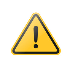 yellow exclamation warning sign vector image