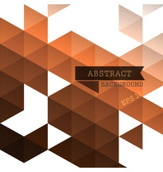 Abstract geometric brown background vector image
