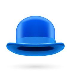 Blue bowler hat vector image