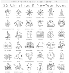 Christmas and Happy New Year ultra modern vector image