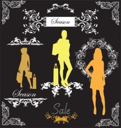 classy fashion vector image vector image