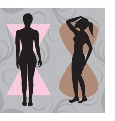 hour glass body vector image