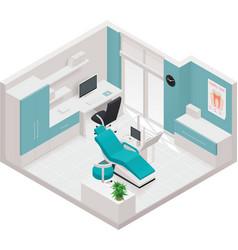 isometric dental clinic icon vector image