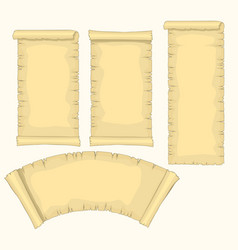 papyrus scrolls set aged blank paper scroll vector image