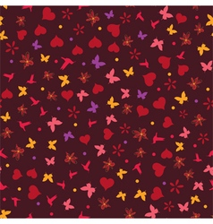 seamless valentine background vector image vector image
