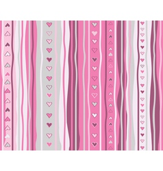 valentine heart seamless pattern vector image vector image