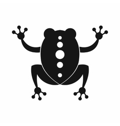 Frog icon black simple style vector image vector image