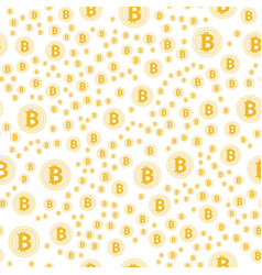 gold bitcoin pattern cryptocurrency with lines vector image