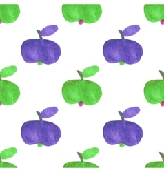 Seamless watercolor pattern with funny green and vector image