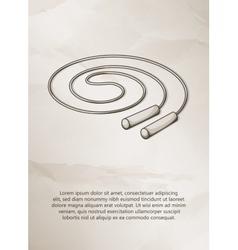 Skipping rope Vintage Label Logo Frame vector image