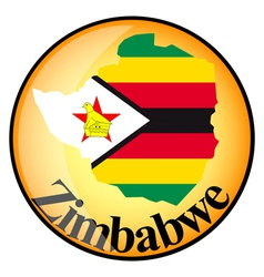 button Zimbabwe vector image