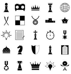 chess icon set vector image