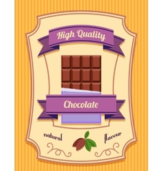 Chocolate bar poster vector image vector image