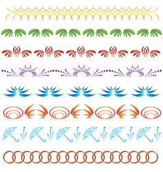 set of color ornaments for design vector image vector image