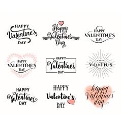 valentines day typography vector image