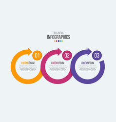 3 steps timeline infographic template with vector