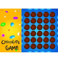 game board chocolate ball vector image vector image