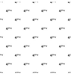 pattern with black fish bones vector image